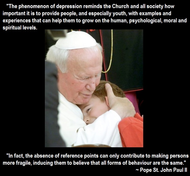 Depression Pope John Paul II