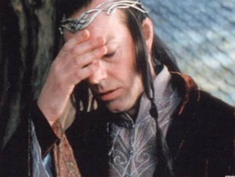 Facepalm Elrond