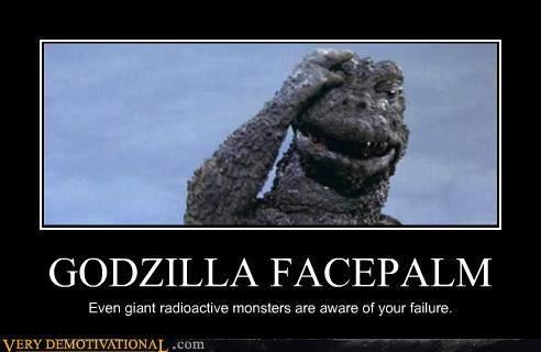 Facepalm Godzilla