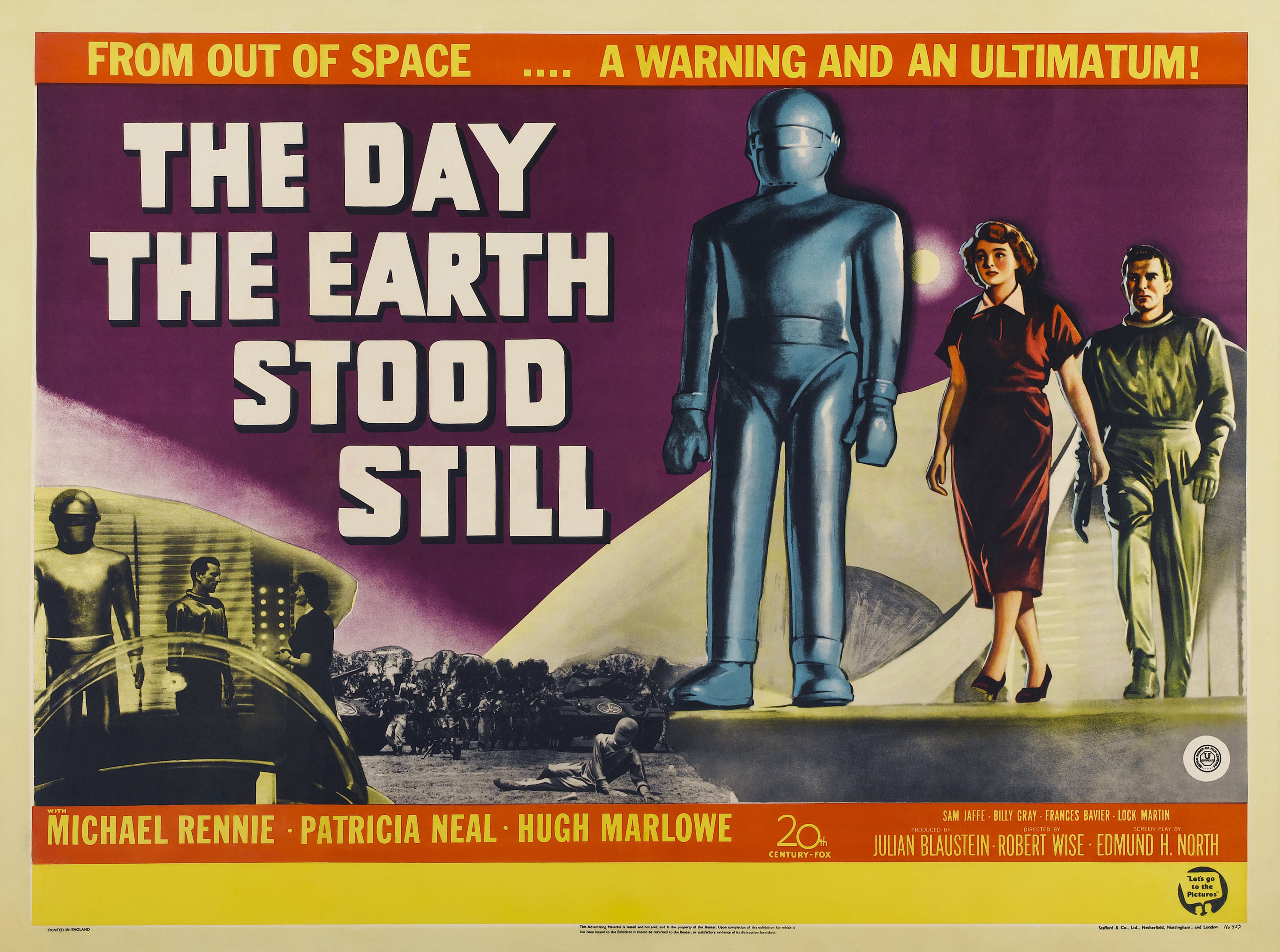 July 2 World UFO Day: The Day the Earth Stood Still (1951 ... |The Day The Earth Stood Still 1951 Klaatu