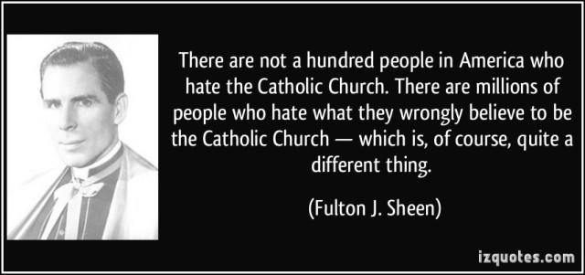 Sheen - Hate Catholic