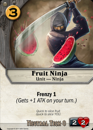 Fruit Ninja Codex Card Game