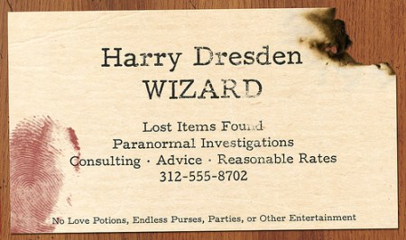 Harry Dresden business card