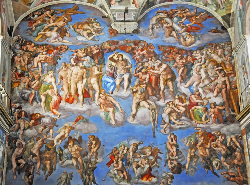 """The Last Judgement"" in the Sistine Chapel."
