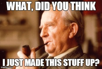 Tolkien making stuff up