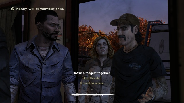 Walking Dead Dialogue Choice