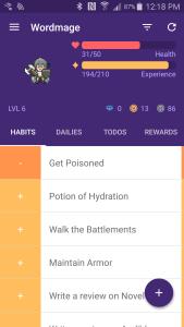 Habitica 1 Habits