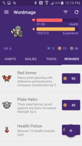 Habitica 4 Rewards