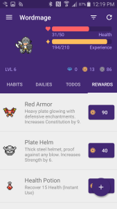 Habitica 4 Rewards