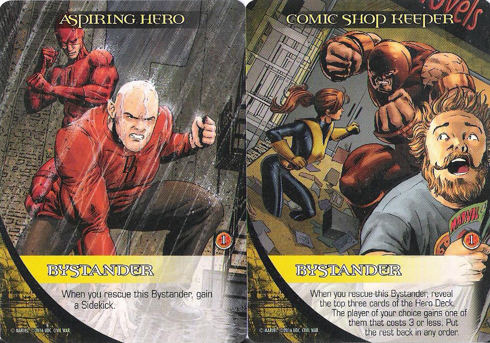 ASPIRING HERO Upper Deck Marvel Legendary BYSTANDER DAREDEVIL