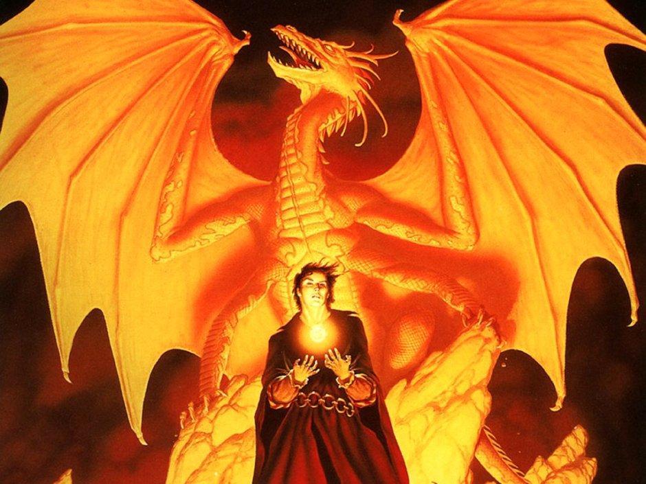 Michael Whelan - Dragon et sorcier