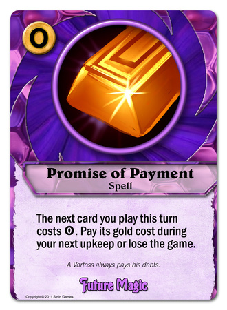 Codex Card Promise of Payment
