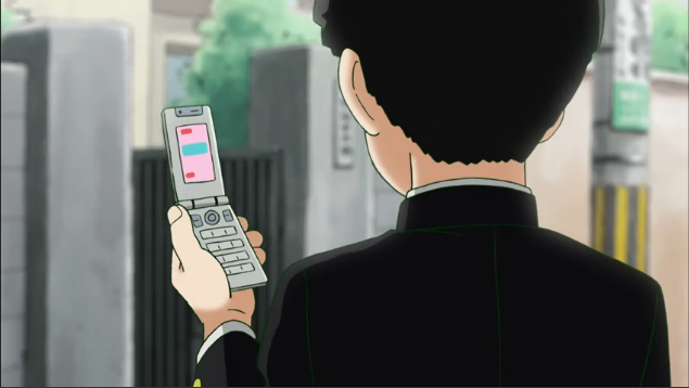 Screenshot of the main character in Mob Psycho 100
